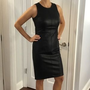 Vegan leather dress. New, without tag.